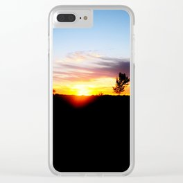 Burning Skies Clear iPhone Case