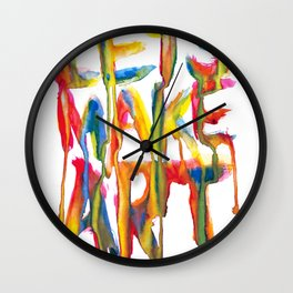 LET'S MAKE ART Wall Clock