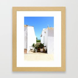 That magical space between these two houses Framed Art Print