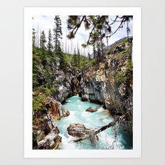 Marble Falls Alberta Canada Art Print