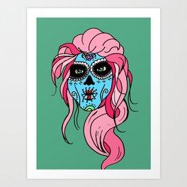 Pastel Sugar Skull Art Print
