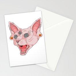 Freaky Kitty v.2 Stationery Cards
