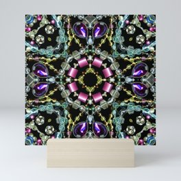 Bling Jewel Kaleidoscope Scanography Mini Art Print