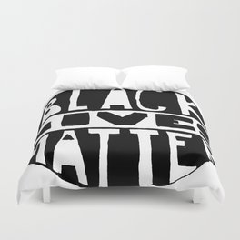 Black Lives Matter Filled Duvet Cover