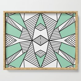 Triangle Tribal Mint Serving Tray