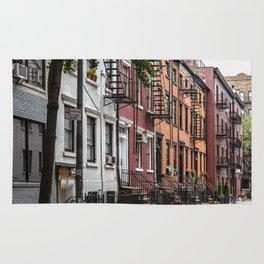 Picturesque street view in Greenwich Village, New York Rug