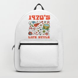 Hippie 1970 life style Backpack