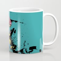 simpsons Mugs featuring Simpsons 25th by sinonelineman