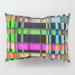 inclined coloured stripes with shadows Pillow Sham