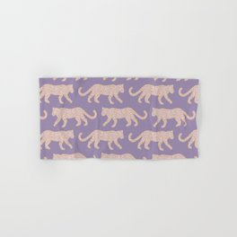 Kitty Parade - Pink on Lavender Hand & Bath Towel