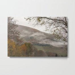 Autumn fog in the mountains Metal Print