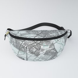 Arnhem, Netherlands, White, City, Map Fanny Pack