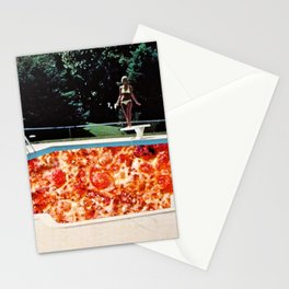 Pizza Pool Party Collage Stationery Cards