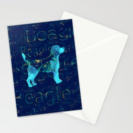 Decorative Beagle  dog Stationery Cards