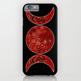 Triple Blood Moon iPhone Case