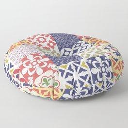 Portuguese pattern color Floor Pillow