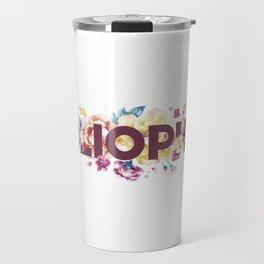 Floral BIBLIOPHILE Travel Mug