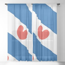 Flag of Friesland Sheer Curtain