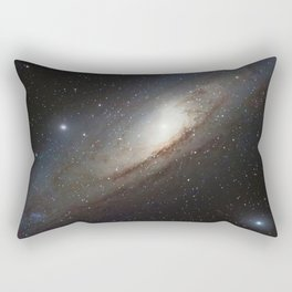 The Andromeda Galaxy, spiral galaxy in the constellation of Andromeda Messier 31 M31 Rectangular Pillow
