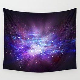 Abstract Nebula #8: Purple blast Wall Tapestry