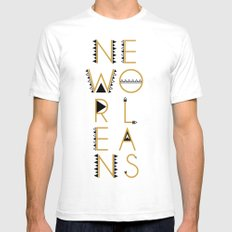 CITY J'ADORE : NEW ORLEANS SMALL White Mens Fitted Tee