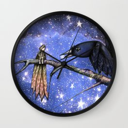 Sacred silence is a pearl of light in the crow's mouth. Wall Clock