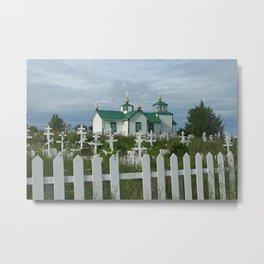 Russian Church in Alaska Metal Print