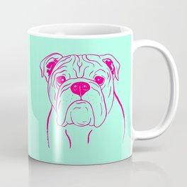 English Bulldog (Mint and Hot Pink) Coffee Mug