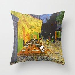 Snoopy meets Van Gogh Throw Pillow