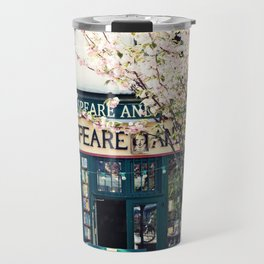 Cherry blossoms in Paris, Shakespeare & Co. Travel Mug