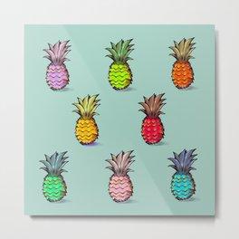 Les petits ananas Metal Print