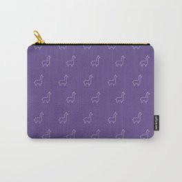 Baesic Llama Pattern (Ultra Violet) Carry-All Pouch