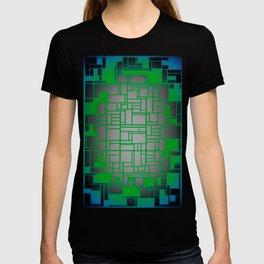 Teal Green Art Deco Pattern T-shirt