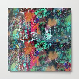 Graffiti and Paint Splatter Metal Print