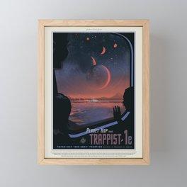 Retro Space Travel Poster NASA-Trappist. Framed Mini Art Print