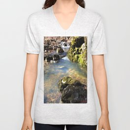 Alone in Secret Hollow with the Caves, Cascades, and Critters, No. 8 of 20 Unisex V-Neck