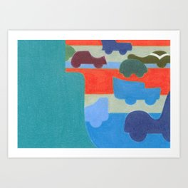 Stuck on the Slowlane Art Print