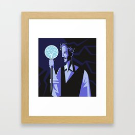 genius experiment with electricity Framed Art Print