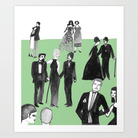Black Tie Art Print