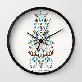 La Vie & La Mort – Turquoise and Brown Wall Clock