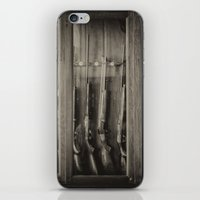 guns iPhone & iPod Skins featuring Guns by Aaron MacDougall
