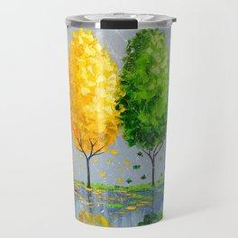 Each tree is individually Travel Mug