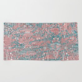 Circuitry Details 2 Beach Towel
