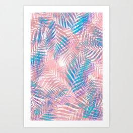 Palm Leaves - Iridescent Pastel Art Print