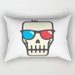 Line skull with 3D glasses Rectangular Pillow