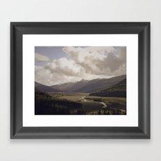 Toutle River Valley Framed Art Print