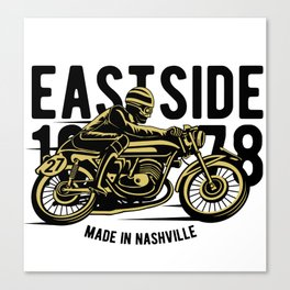 Eastside 1978 - Motocross, Motobike, Motorbike Rider T Shirt Canvas Print
