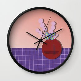 Lavender & Daisies in a Vase Wall Clock