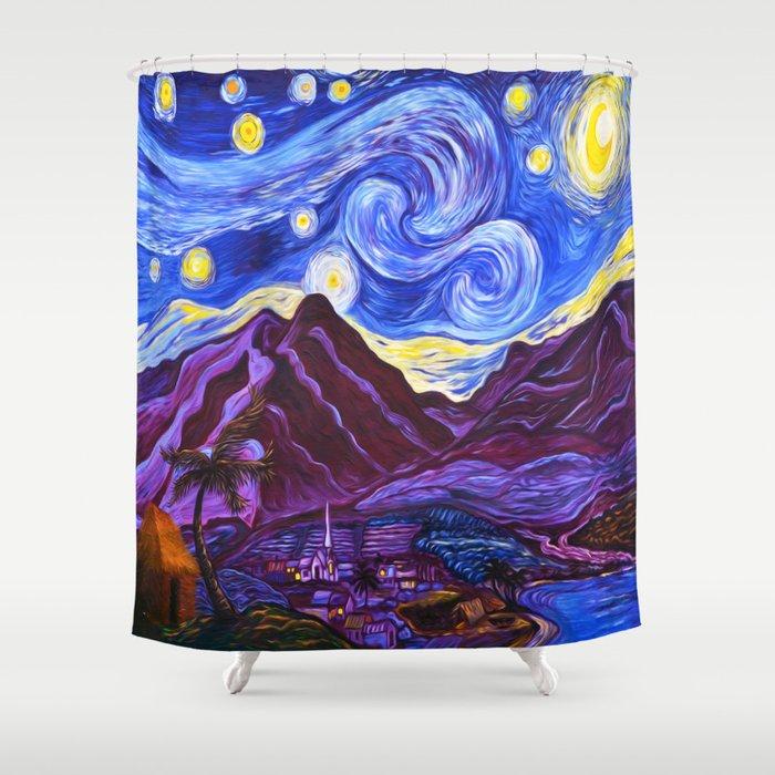 Maui Starry Night Shower Curtain