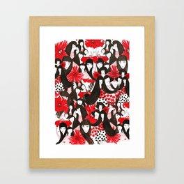 Hello Blossom Girls - Illustration By Chrissy Lau Framed Art Print